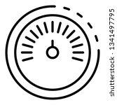 speedometer icon. outline...   Shutterstock .eps vector #1341497795
