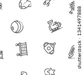 plastic baby toy icon. outline...   Shutterstock .eps vector #1341497888