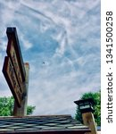 Small photo of Plane flying over the utopian village of Arden, Delaware