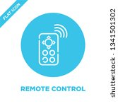 remote control icon vector from ... | Shutterstock .eps vector #1341501302