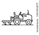 small tractor plow icon....   Shutterstock .eps vector #1341501875