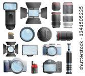 photographer equipment icons...   Shutterstock .eps vector #1341505235