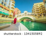 venetian bridge on canals of... | Shutterstock . vector #1341505892