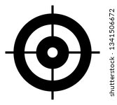 target aim icon. simple... | Shutterstock .eps vector #1341506672