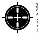 sport sniper aim icon. simple... | Shutterstock .eps vector #1341506702
