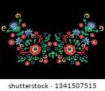 sicilian neckline pattern with... | Shutterstock .eps vector #1341507515