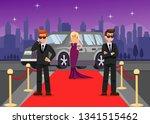 bodyguards and celebrity... | Shutterstock .eps vector #1341515462