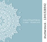 invitation or card template... | Shutterstock .eps vector #1341528542