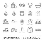 set of water icons  such as... | Shutterstock .eps vector #1341530672