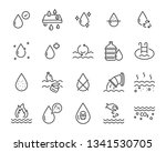 set of water icons  such as... | Shutterstock .eps vector #1341530705