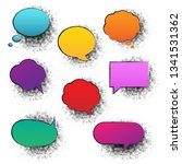 retro speech bubble  vector... | Shutterstock .eps vector #1341531362