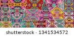 vector patchwork quilt pattern. ...   Shutterstock .eps vector #1341534572