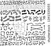 set of vector doodle drawing... | Shutterstock .eps vector #1341535055