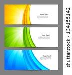 set of banners | Shutterstock .eps vector #134155142