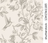 vector sketch pattern with... | Shutterstock .eps vector #1341561185