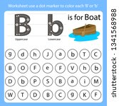 worksheet use a dot marker to...