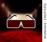 3d glasses mono color icon ....