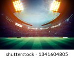 lights at night and stadium 3d... | Shutterstock . vector #1341604805