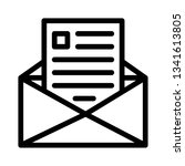 email icon vector | Shutterstock .eps vector #1341613805