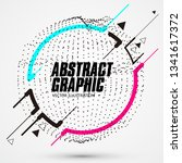 circle shaped abstract graphic  ... | Shutterstock .eps vector #1341617372