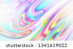 abstract holographic wavy lines....   Shutterstock .eps vector #1341619022