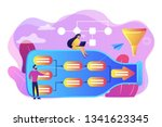 tiny business people at bottle... | Shutterstock .eps vector #1341623345