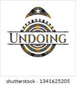 undoing arabesque emblem.... | Shutterstock .eps vector #1341625205