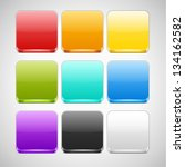 set of colorful app icons... | Shutterstock .eps vector #134162582