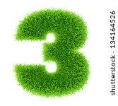 digit symbol 3 of grass alphabet | Shutterstock . vector #134164526