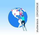 travel destinations planning ... | Shutterstock .eps vector #1341653618