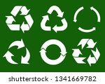 vector recycle signs | Shutterstock .eps vector #1341669782