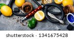 east hookah with fruit aroma... | Shutterstock . vector #1341675428