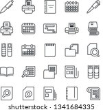 thin line icon set   book... | Shutterstock .eps vector #1341684335
