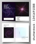 vector layout of two a4 format...   Shutterstock .eps vector #1341691088