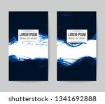set of vector business card... | Shutterstock .eps vector #1341692888