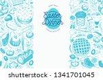 easter dinner banner template.... | Shutterstock .eps vector #1341701045