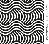 decorative wavy geometric... | Shutterstock .eps vector #1341707798