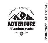 adventure mountain peaks  ...   Shutterstock .eps vector #1341708938