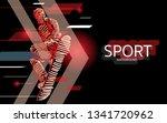 modern poster for sports.... | Shutterstock .eps vector #1341720962