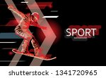 modern poster for sports.... | Shutterstock .eps vector #1341720965