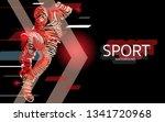 modern poster for sports.... | Shutterstock .eps vector #1341720968