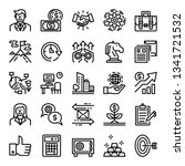 business pixel perfect icons ... | Shutterstock .eps vector #1341721532
