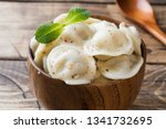 dumplings stuffed with meat ... | Shutterstock . vector #1341732695