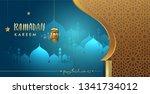 ramadan greetings background ... | Shutterstock .eps vector #1341734012