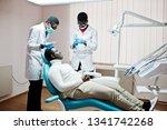 african american man patient in ... | Shutterstock . vector #1341742268