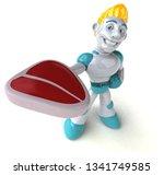 robot   3d illustration | Shutterstock . vector #1341749585
