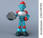 red robot   3d illustration | Shutterstock . vector #1341749705