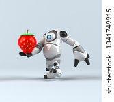 big robot   3d illustration | Shutterstock . vector #1341749915