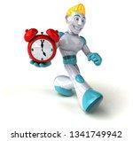 robot   3d illustration | Shutterstock . vector #1341749942
