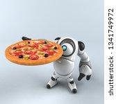 big robot   3d illustration | Shutterstock . vector #1341749972